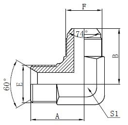 BSP油圧アダプターDrawing