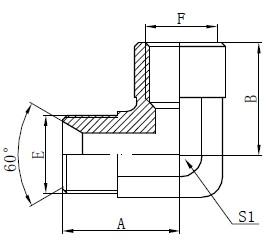 エルボーBSPアダプター継手図面
